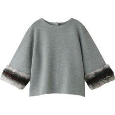 Fur маншети плета пуловер
