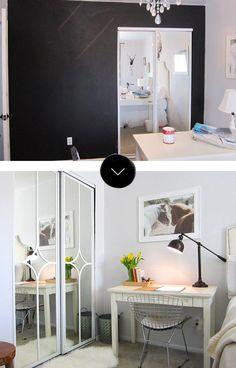 Before & After: Mirrored Closet Door Makeover