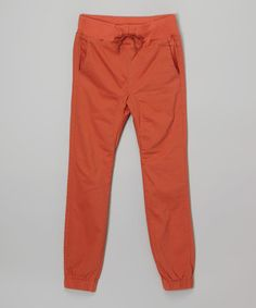 Another great find on #zulily! Brick Red Joggers - Boys  $12.99
