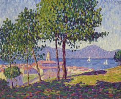 SAINT-TROPEZ, EFFET DE SOLEIL  Francis Picabia 1879 - 1953 Oil on canvas; 1909 32 1/8 by 39 1/2 in.