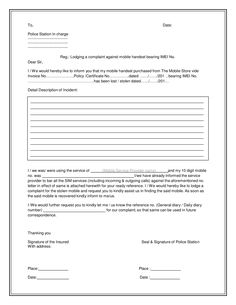 Complaint Letter Model Simple Christine Brecht Cricketb821 On Pinterest