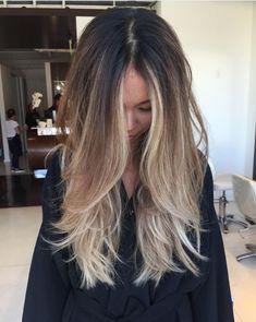 sleek straight wavy hair