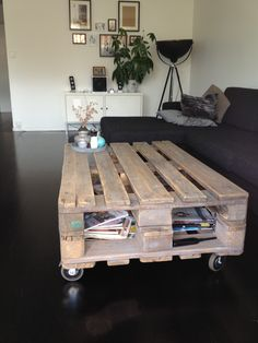 Self made living room table