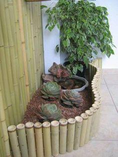 ผลการค้นหารูปภาพสำหรับ como fazer cerca de bambu para jardim
