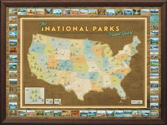 National Parks Travel Map