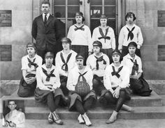Grandview High School girls basketball team 1921  (with an inset of the coach's brother in law...)  Moment in Time Feature - Grandview ThisWeek Newspaper