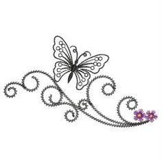 Swirly Butterflies 3 03(Md) machine embroidery designs