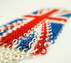 UK Flag Chainmaille Cuff Kit European 4 in 1 by UnkamenSupplies