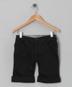 Take a look at this Black Bermuda Shorts by YMI Jeans on #zulily today!