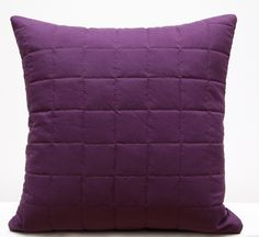 Prešívané obliečky na vankúš tmavo fialovej farby Throw Pillows, Bed, Toss Pillows, Cushions, Stream Bed, Decorative Pillows, Beds, Decor Pillows, Scatter Cushions