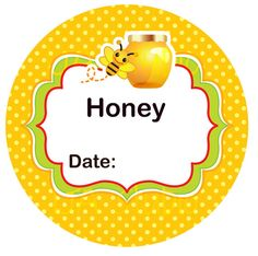 Honey Can Jar Labels (Set of 20) by IJAStudio, $5.50