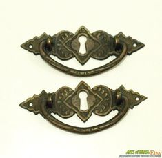 Drawer Pulls Antiques Solid Brass Four Antique Hepplewhite Oval Ring Drawer Pulls