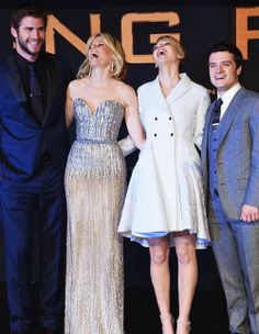 It looks like it's all fun and games once you're outside the arena. The cast of The Hunger Games: Catching Fire headed to Berlin on the latest stop in their Hunger Games Novel, Hunger Games Cast, Hunger Games Catching Fire, Tribute Von Panem, Adventure Film, Liam Hemsworth, Mockingjay, Celebs, Celebrities