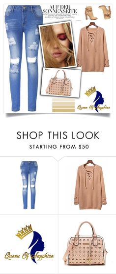 """QUEEN OF SAPPHIRE 2"" by semic-merisa ❤ liked on Polyvore featuring Steve Madden"