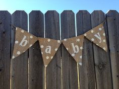 GENDER NEUTRAL BABY Shower Decorations Burlap Baby Shower