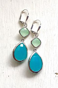 A personal favorite from my Etsy shop https://www.etsy.com/listing/151383011/large-turquoise-teardrop-and-mint