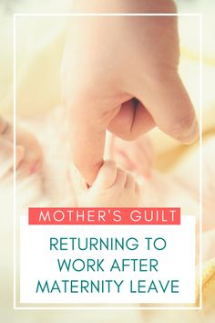 Maternity leave is a great time for bonding with your newborn. How do you cope when it comes to an end?Guilt?? Read more here about it here. via @abusybeeslife