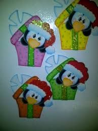 Moldes para tarjetas de navidad en foami