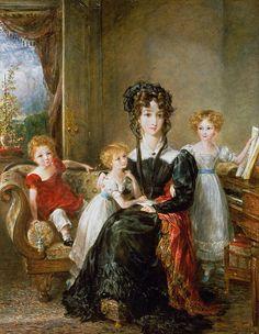 Portrait of Elizabeth Lea and her Children  by  John Constable