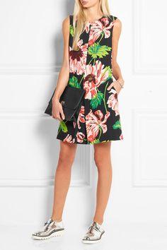 Stella McCartney | Floral-print stretch-crepe mini dress | NET-A-PORTER.COM