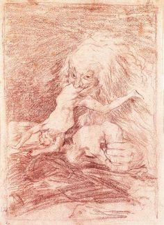 Francisco Goya - Saturn drawing