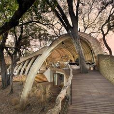 Luxury resort in Botswana, amazing wooden safari lodge. Sandibe Safari Lodge by Michaelis Boyd. Contemporary Architecture, Architecture Design, Canopy Architecture, Vernacular Architecture, Architecture Awards, Contemporary Design, Hotel Et Spa, World Architecture Festival, Game Lodge
