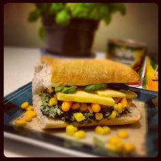#ciabatta #sandwich #spinach #corn #carrot