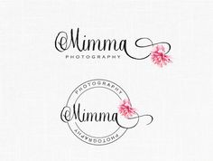 Floral Logo design Photography Logo Romantic Floral Boutique Logo Stamp