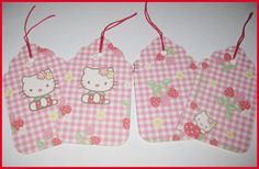 Hello Kitty Strawberry Gift Tags So Kawaii by kawaiislandgurl72, $3.00