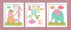 Baby Love Wall Art Nursery baby girl Wall Art Baby by Youpicbig, $14.00
