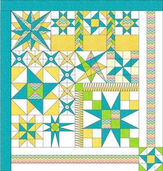 Mystery Quilt Patterns | Mystery Stars A Quilt Pattern by bluepatch22 on Etsy