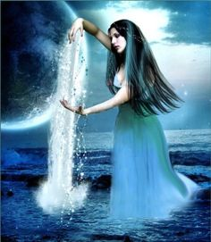 Ahurani is a water Goddess from ancient Persian mythology. She watches over rainfall as well as standing water. She was invoked for health, healing, prosperity, and growth.