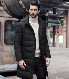f4c43e2c730 ICEbear 2017 New Clothing Jackets Business Long Thick Winter Coat Men Solid  Parka Fashion Overcoat Outerwear