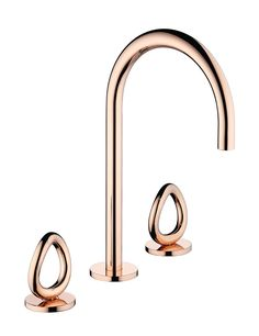 Faucet in Rose Gold, with the famous Vertigo ring created by Andrée Putman to Christofle.