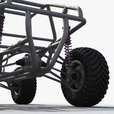 Dune buggy chassis model – TurboSquid 1420148 - Home & DIY Go Kart Buggy, Off Road Buggy, Vespa Custom, Custom Cars, Trike Motorcycle, Motorcycle Design, Fusca Cross, Triumph Motorcycles, Drift Trike Frame