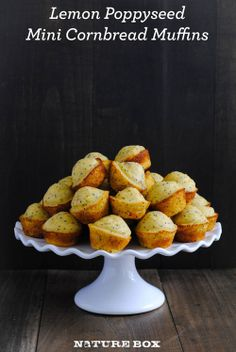 Lemon Poppyseed Cornbread Mini Muffins (w/vegan subs)