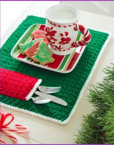 The best Christmas Placemat and Place Mats with Pockets [Free Crochet Patterns]