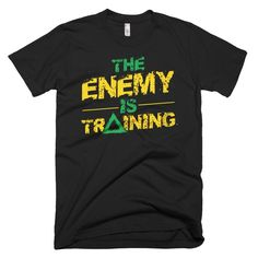 The Enemy is Training men's t-shirt