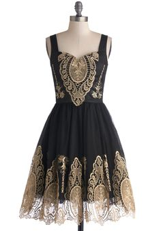great black and gold dress