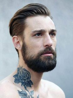 Rose Neck Tattoo, Neck Tattoo For Guys, Tattoos For Guys, Hipster Haircuts For Men, Best Short Haircuts, Men Hipster, Hipster Ideas, Straight Haircuts, Best Neck Tattoos