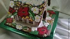 """Купить Пряничный домик """"Маки"""" - пряник, пряники, пряничный домик, расписные пряники, имбирное печенье"""