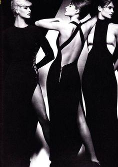 Versace 1991 - Linda Evangelista, Christy Turlington & Helena Christensen