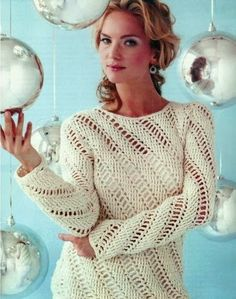 Crochet patterns: Icicles Blouse- Ideal for the Holidays