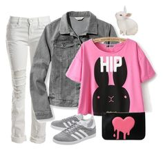 """""""Hip Bunny"""" by hsldybg ❤ liked on Polyvore featuring Sans Souci, L.L.Bean, adidas Originals and Love Moschino"""