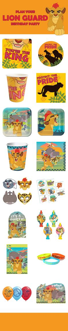 Planning a Lion King or Lion Guard birthday party? Check out our full line of party items, along with our Lion Cub design. You can find them here: http://www.discountpartysupplies.com/boy-party-supplies/lion-guard-party-supplies?utm_source=Pinterest&utm_medium=Social&utm_content=LION_GUARD_PARTY_SUPPLIES&utm_campaign=Lion_Guard_Promoted_Pin