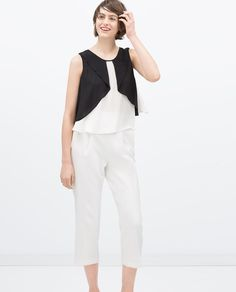 Image 2 of COMBINED LAYER TOP from Zara