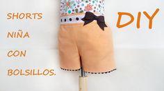 Shorts niña con bolsillos. Patrón en tienda.patronesmujer