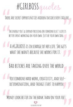 #GIRLBOSS book quotes by Sophia Amoruso | Alina Ermilova | @nastygal alinaermilova.com