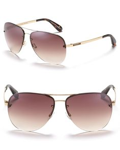 MARC BY MARC JACOBS Aviator Sunglasses with Colored Tips | Bloomingdale's