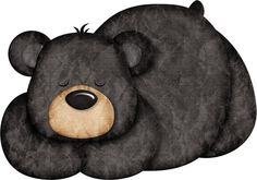 Scrapbooking Image, Urso Bear, American Black Bear, Bear Clipart, Bear Crafts, Bear Cartoon, Camping Theme, Applique Patterns, Woodland Animals